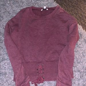 American Eagle Lace up Sweatshirt top
